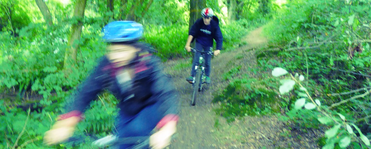 Kids mountain bike party at Deers Leap in Sussex