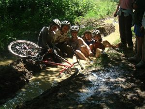 Kids mountain bike party at Deers Leap
